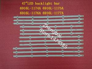 (New original) Kit 12 PCS LED backlight strip for LG 47LN 47LA620S 47LN5400 6916L-1174A 6916L-1175A 6916L-1176A 6916L-1177A