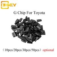 BHKEY 10X 20X 30X 50X For Toyota Transponder Chip G For Toyota 4Runner Rav4 Yaris G Chip For Lexus