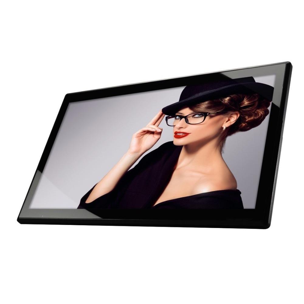 Moniteur à cadre numérique full HD 17.3 pouces à écran large IPS (cadre Ultra-mince, lecteur vidéo 1920*1080,1080P arrière, entrée hdmi, entrée AV)