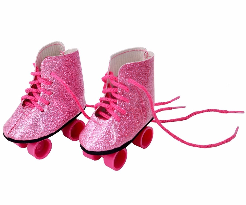 Last 50Pairs Red Top Quality Sport Shoes For 18 inch American Girl Doll Roller Skating Shoes Fit For Any 18Dolls DC210 ...