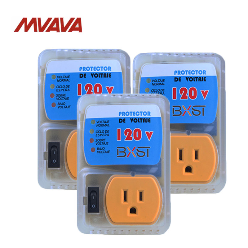 Free Shipping,MVAVA 3 Packs US AC120V Home Appliance Socket Surge Voltage Brownout Protector Wall Receptacle  Outlet Resistant free shipping 120 models 120pcs usb socket 2 0