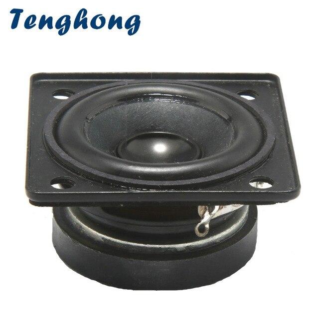 Tenghong 2pcs 1.5 אינץ מלא טווח רמקולים 4Ohm 5W נייד אודיו רמקול יחידה עבור בית תיאטרון רמקולים DIY שירה קול