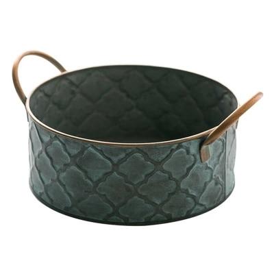 Iron Basket For Bread With Two Handles Vintage Storage Home Organizer Diameter 25CM