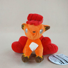 18cm Kawaii Red Vulpix With Tag Soft Stuffed Animals Doll Toys For Kids Birthday Gifts