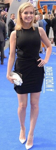 Schwarze Kurze Rachel Riley Roter Teppich berühmtheit Kleider ...