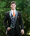 Realtree Camo Wedding Tuxedos Groom Groomsmen Suits Camouflage Custom Made Prom Party Wears ( Jacket+Pants+Vest+Tie)