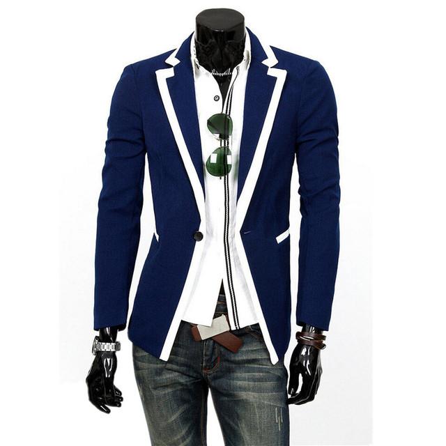 Nueva Llegada de La Manera de La Venta hombres chaqueta borde Clásico hombres de traje chaqueta de Tamaño M-2XL