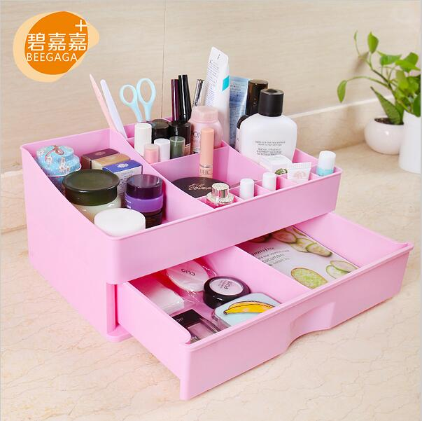 Plastic Storage Box Jewelry Container Makeup Case Colorful Assembly Cosmetic Organizer Drawers Box Office Organiser
