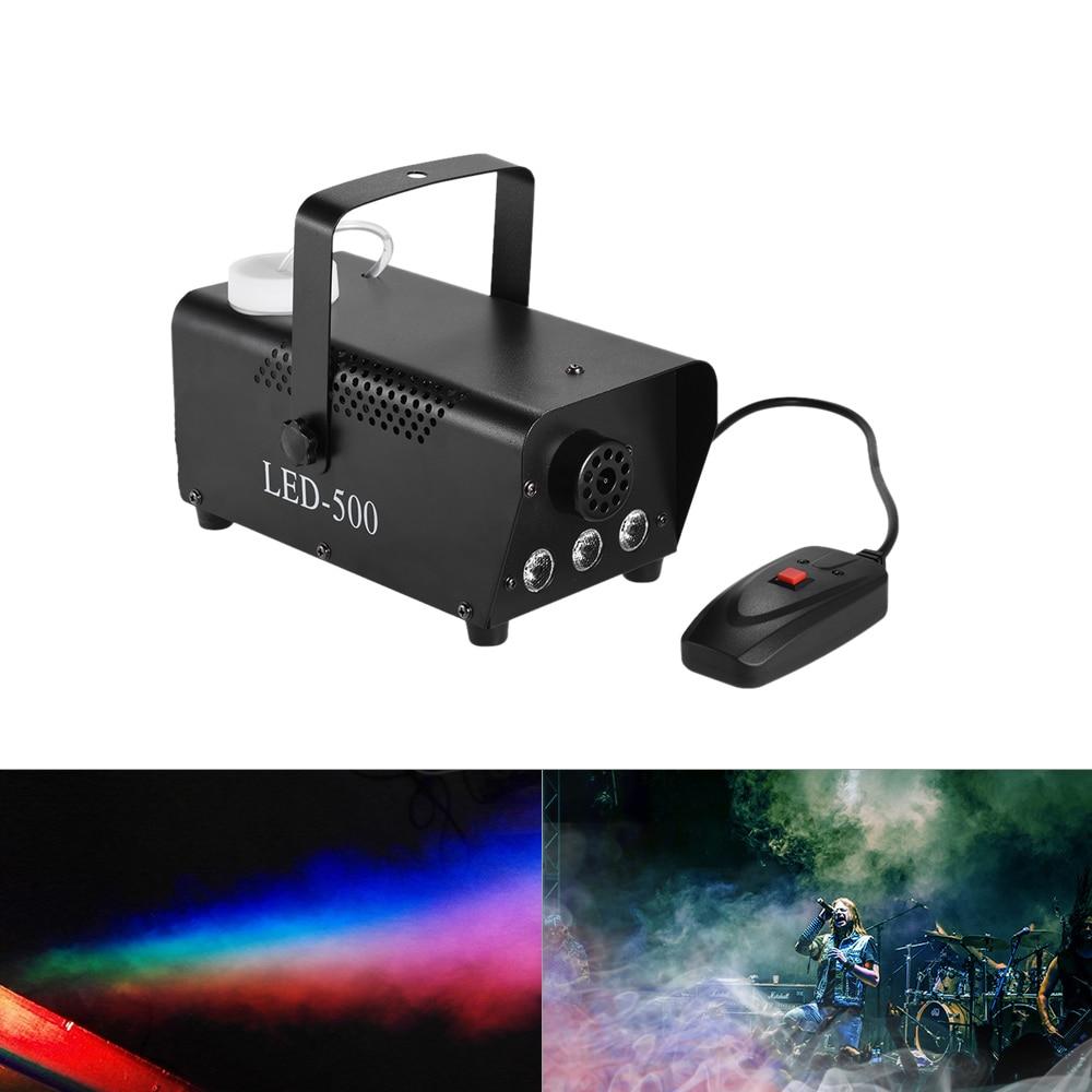 Colorful 400 Watt di Nebbia Fogger Nebbia Macchina del Fumo con LED Luci di Colore (Rosso, Blu, Verde) cavo di Controllo Remoto per il Partito DJ Bar KTV
