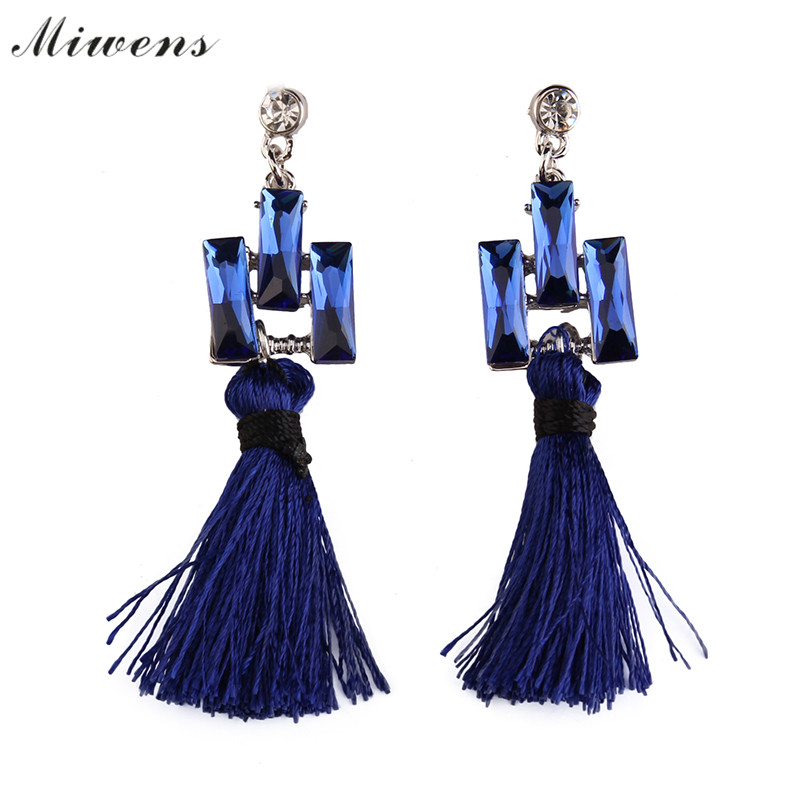 2017 New Multilayers Long Rope Tassel multicolor Crystal Stud Wedding  Earrings For Women Luxury Fashion Accessories 7067 6562011601f4