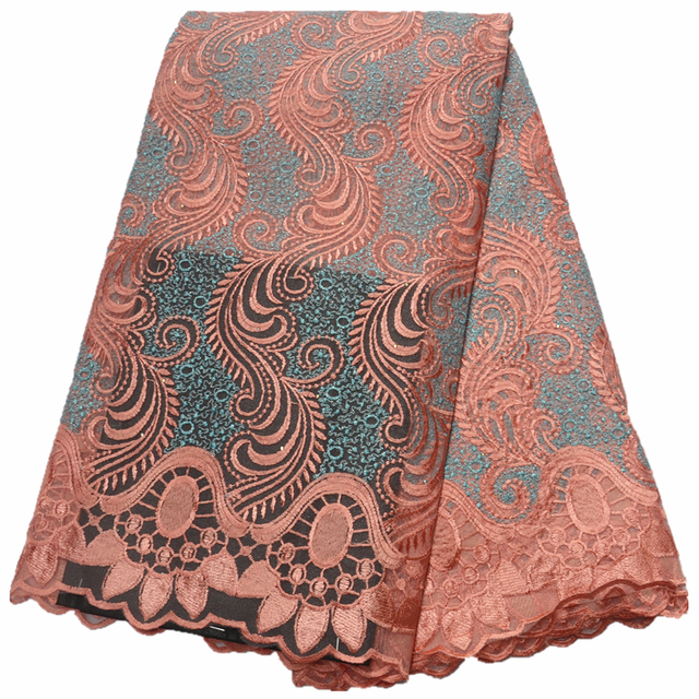 High Quality Nigerian Lace fabric with stones