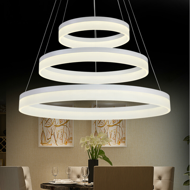 Hanging Light Round: For Restaurant Foyer Bedroom Dinning Room Round Ring LED