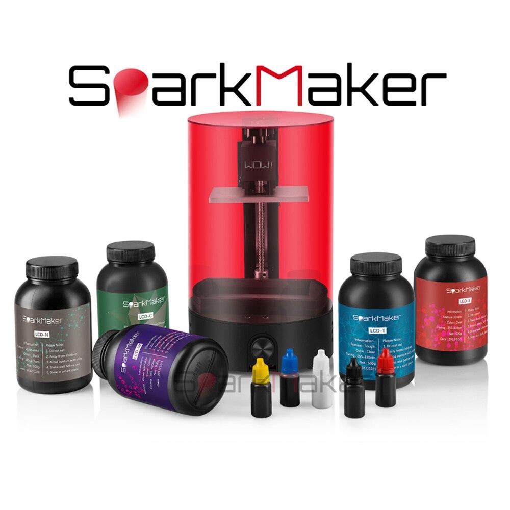 Sparkmaker version améliorée uv photonique SLA/DLP/LCD imprimante 3d haute précision Impresora pour bijoux dentisterie photon