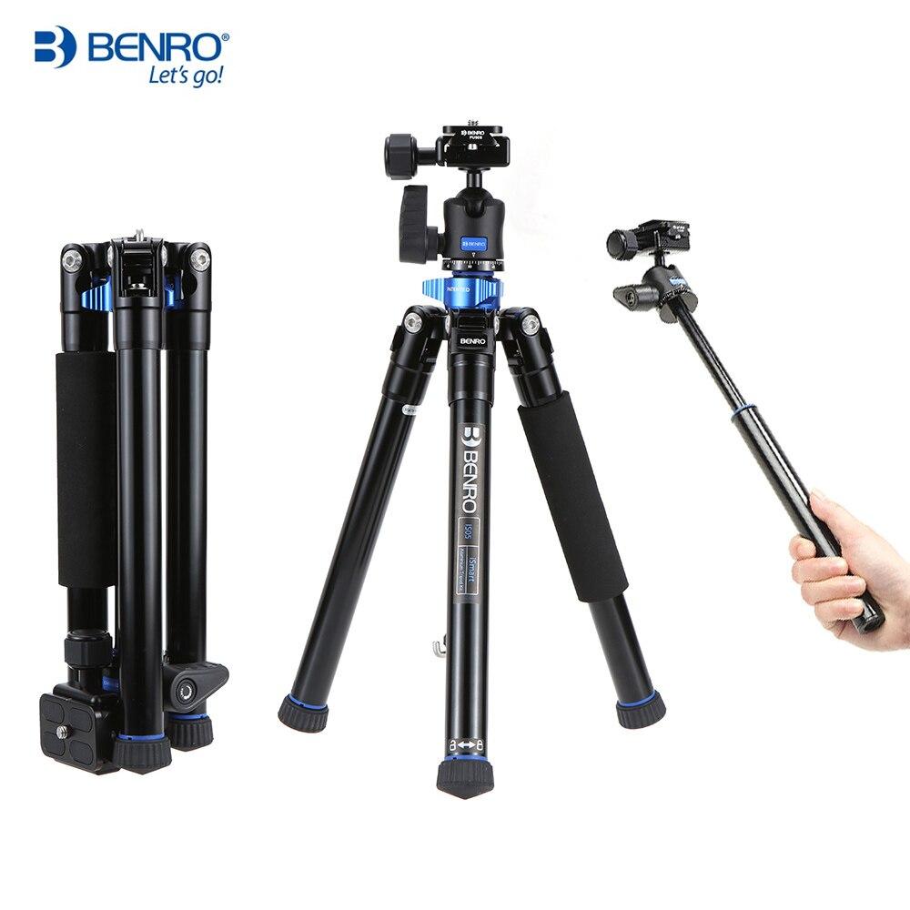 buy benro is05 2 in 1 portable aluminum alloy tripod selfie. Black Bedroom Furniture Sets. Home Design Ideas