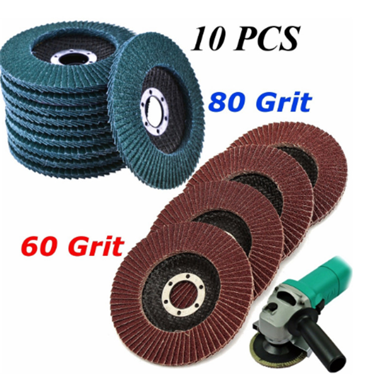 10 pcs Flap 115mm  Sandpaper Sanding Discs Grinding Sanding Polishing Wheels Angle Grinder new japan makita 9035 flat type sandpaper machine 9035h woodworking polishing sanding machine vibration grinding 160w 180w