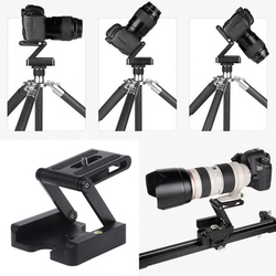 Portable Z-Type Camera Folding Tripod Pan Tilt Ball Head Desktop Stand Holder