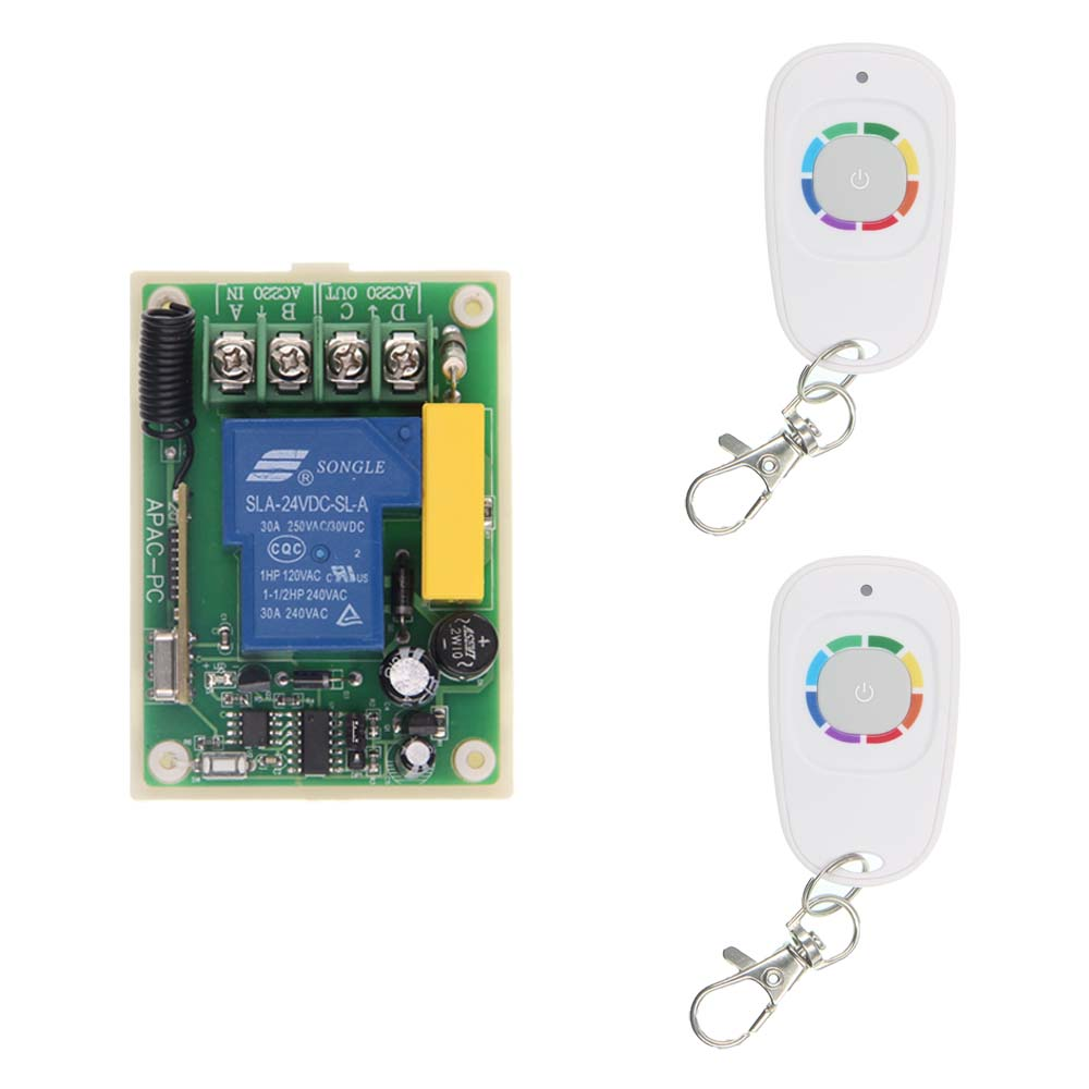 220V 30A 1CH 1 CH RF Wireless Remote Control Relay Switch Receiver Security System Garage Door