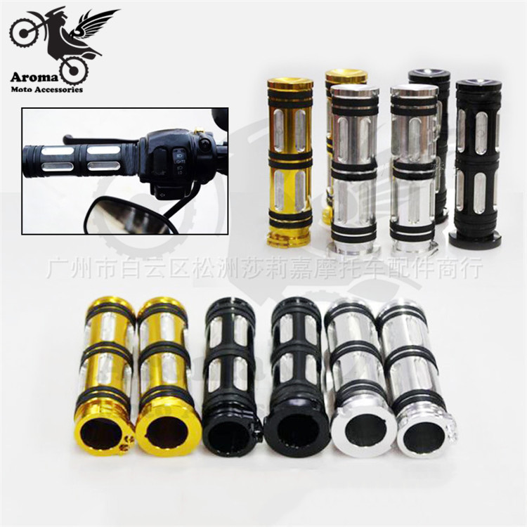 top quality gold silver black retro scooter handle grips part aluminum CNC moto handlebar for harley XL883 1200 motorcycle grip
