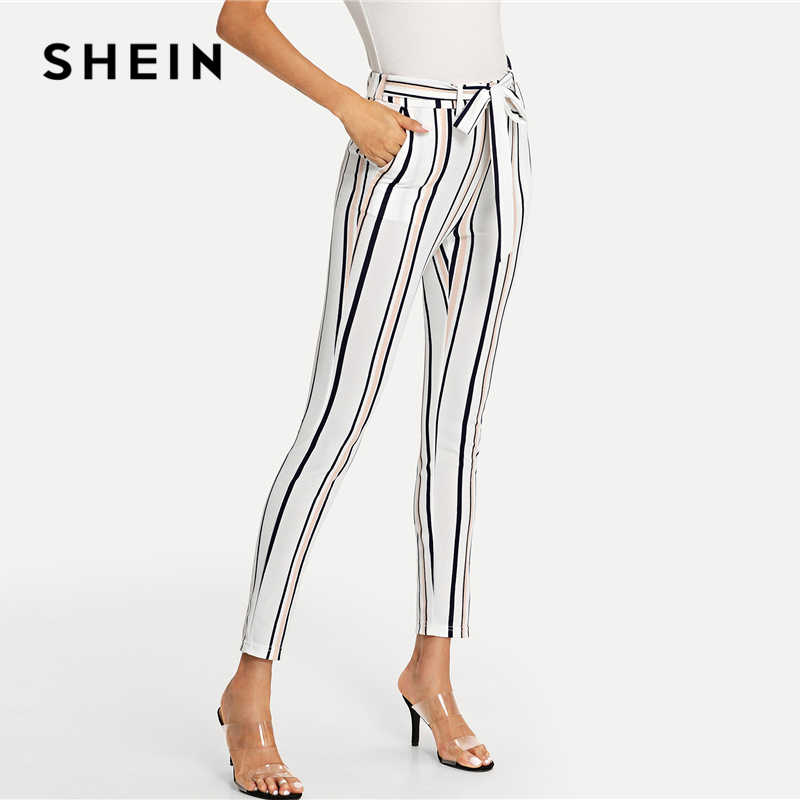 Vertical stripe Peg Leg Pants