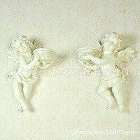 Садовые полимерные куклы ангела в европейском стиле в стиле ретро, украшенные мягкой сборкой, подсвечник, опт, Taobao, хит продаж