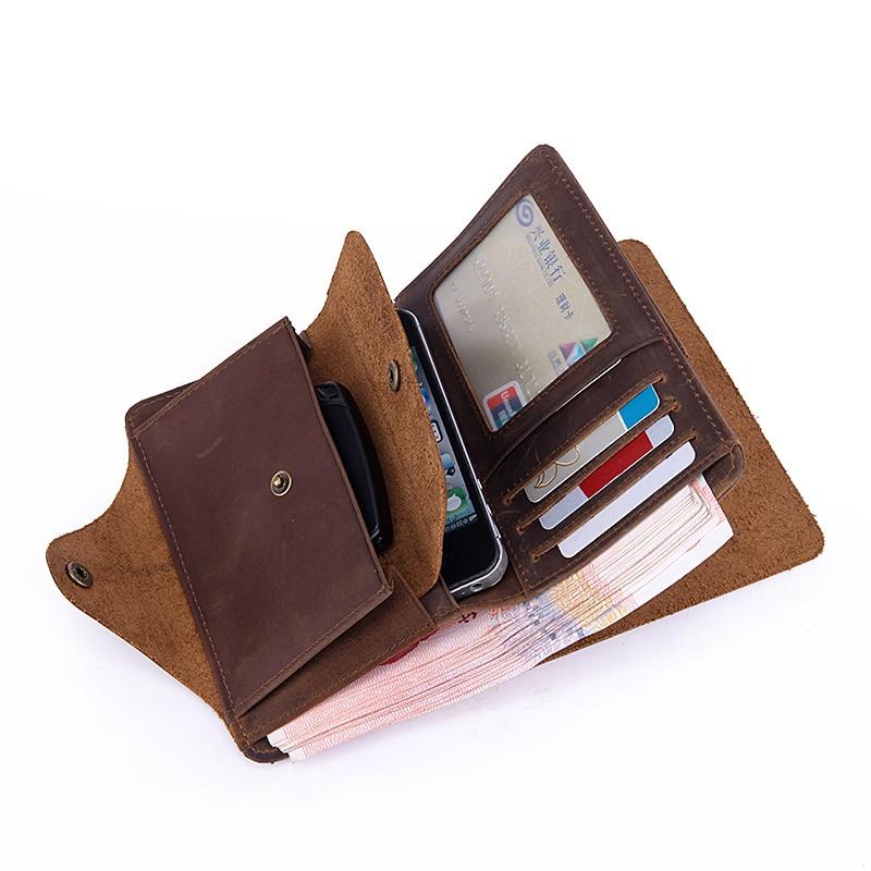 цена Neweekend Vintage Style Men's Bifold soft Genuine Leather long Billfold Wallet Card Holder Purse ID Credit Card Holder 002 19% онлайн в 2017 году