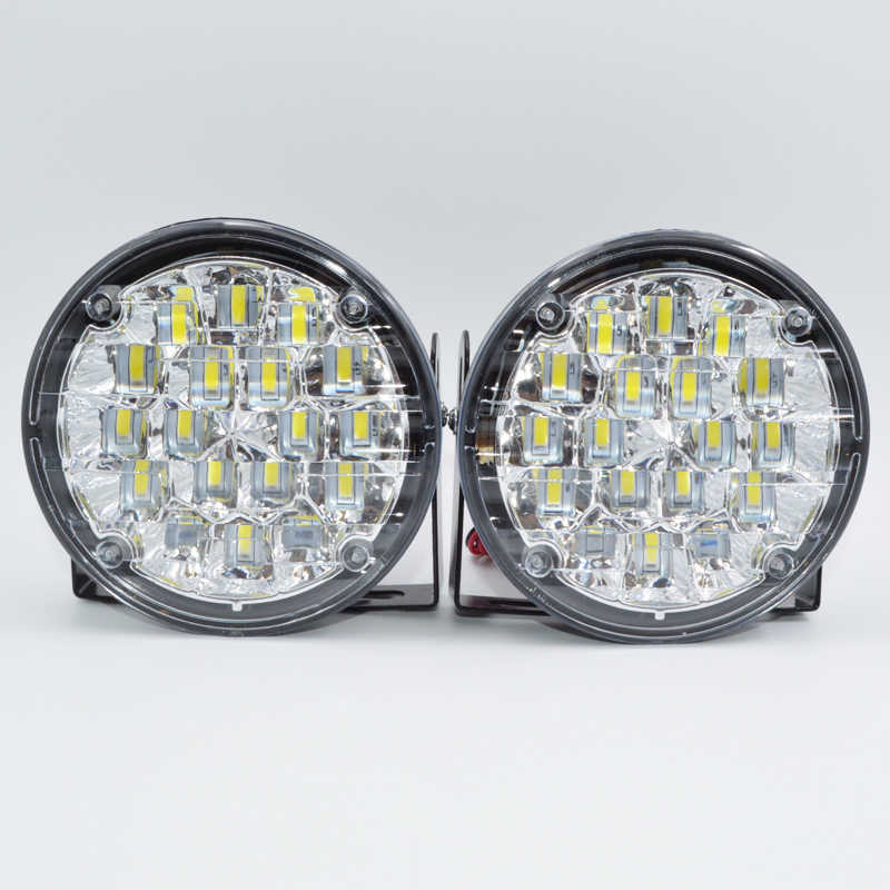 Super Bright 18 LED Car Light White DRL LED Daytime Running Light LED Fog Light Head Lamp 2pcs car styling