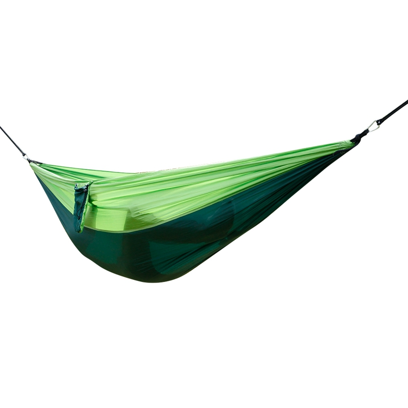 Lightweight Hammock 210T Nylon Parachute Fabric 260x140cm Green Patchwork Dropshipping aotu at6716 parachute nylon fabric double hammock neon green