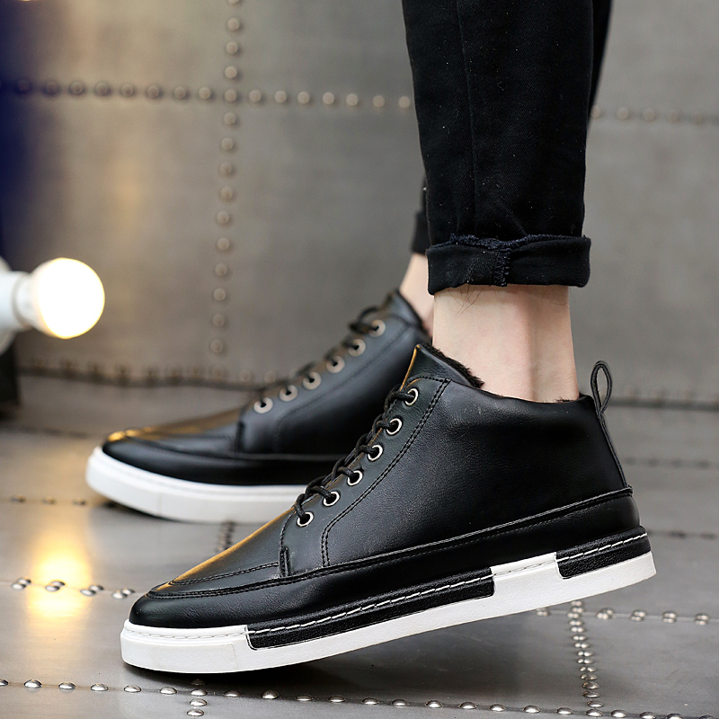 New Men Casual Shoes 2018 New Fashion Breathable Lightweight Shoes Autumn Winter Keep Warm Comfortable Footwear Men's Sneakers 2017 new lightweight breathable suede mens casual shoes adult keep warm with fur