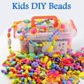 1000 unids niñas pop cuentas de los niños bloques de construcción de plástico diy de los granos diy de la joyería cuentas de los niños diy juguetes hechos a mano conjunto dy31l
