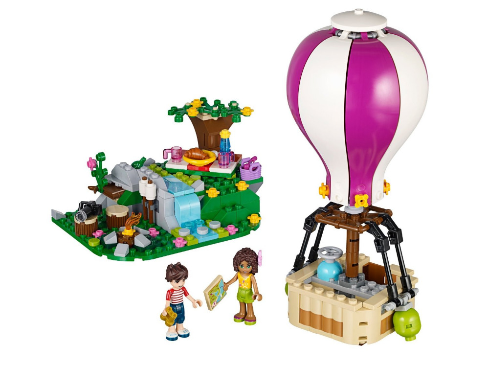 BELA Friends Heartlake Hot Air Balloon Building Blocks Classic For Girl Kids Model Toys  Marvel Compatible Legoe bela city police crook pursuit building blocks classic for girl boy kids model toys marvel compatible legoe