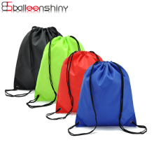 BalleenShiny Nylon Drawstring Storge Bags Colorful Thicken Waterproof Knapsack Travel Sports Sundries Neaten Pouch