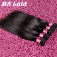 FREE SHIPPING Ms lula hair Virgin Peruvian Hair Weave Extensions Straight 3pcs lot virgin human hair bundles