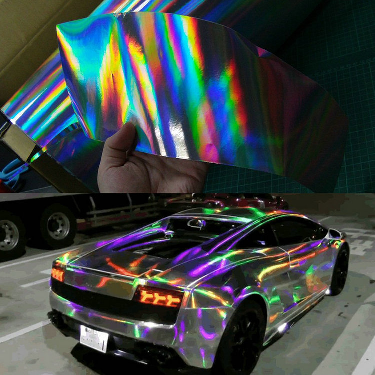 buy car sticker carbon fiber film vinyl car wrap diy auto covering film rainbow. Black Bedroom Furniture Sets. Home Design Ideas