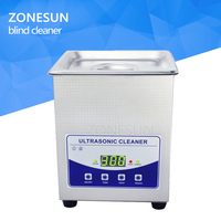ZONESUN 2L display ultrasonic cleaner with LCD for Jewelry Watch Denture Glasses Blind Cleaning Machine