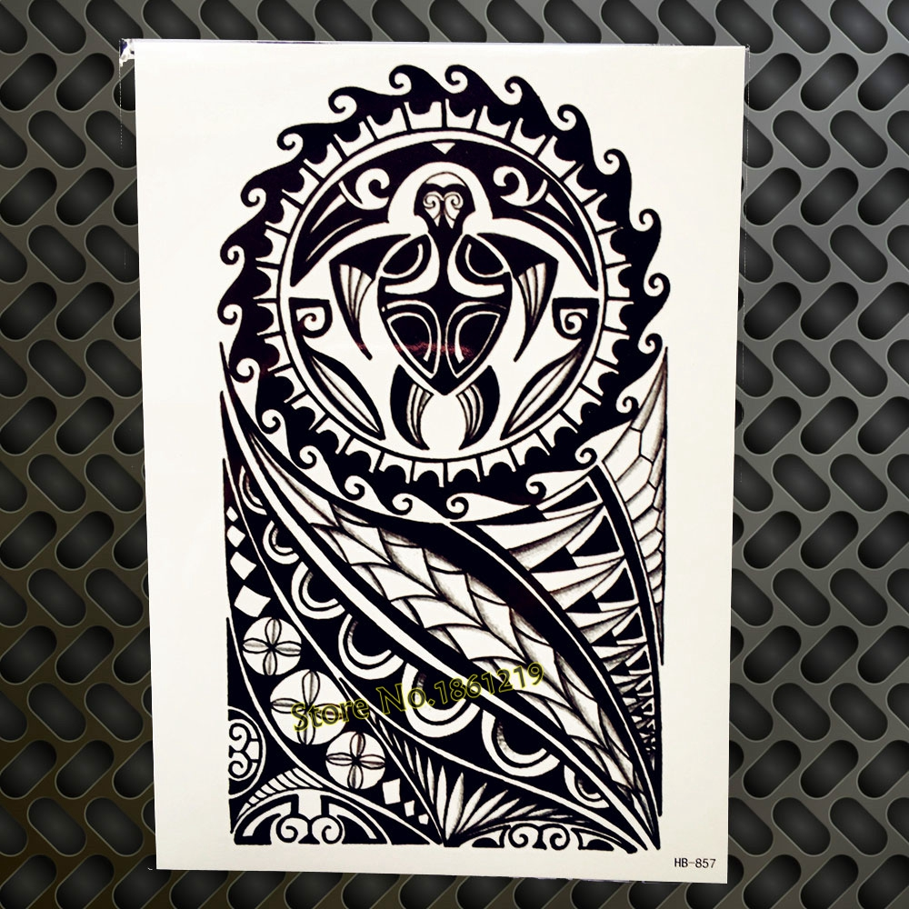 3D Real Lion Temporary Tattoo Stickers WOmen Body Art Arm Tattoo Sleeve 21x15CM Henna Flower DIY Tatoo Adhesive Beach Style