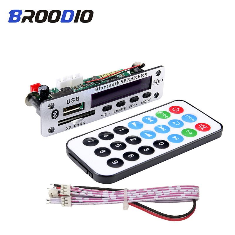 MP3 Bluetooth Speaker Player Decoding Board Lossless Music Player USB MP3 Decoder 12V Wireless Audio Module With SD Card For Car