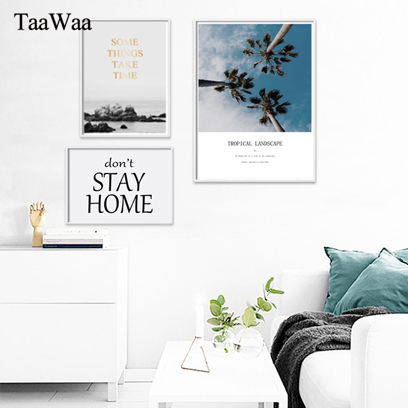 Scandinavian Style Canvas Wall Art Travel Landscape Poster Nordic Print Natural Painting Decoration Pictures Modern Home Decor in Painting Calligraphy from Home Garden