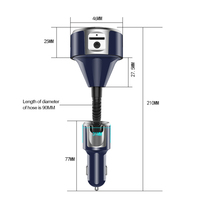 Auto Handsfree Bluetooth Car Kit FM Transmitter Modulator MP3 Player Support AUX Audio Output Handsfree Player Fm Transmitter