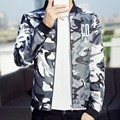 New male jackets cotton outwear men's coats Sportswear Spliced Hoodies Young men bomber jacket Camouflage Jacket  Windbreaker