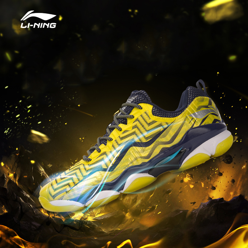 Li Ning Men SONIC BOOM Professional Badminton Shoes Breathable Anti Slip LiNing Wearable Sports Shoes Sneakers
