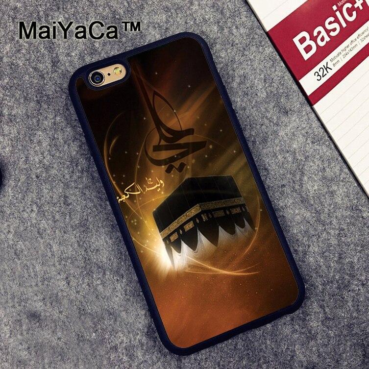 MaiYaCa Мекка Имам Али Исламская шиитов Святой печатных мягкой резины телефона Чехлы для iPhone 6 6 S плюс 7 8 плюс 5 5S SE X крышка Shell ...