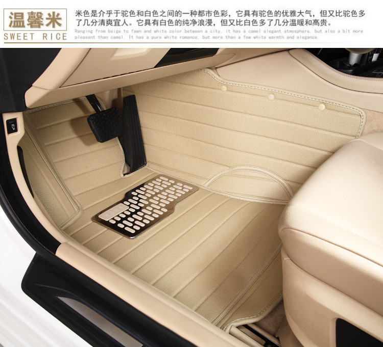 Special Full Surrounded XPE Leather Car Floor Mats Waterproof Rugs - Audi 90 car mats