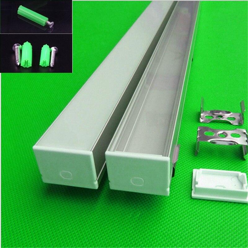 10-30 pcs/lot 80 pouces 2 m longue W30 * H20mm plat led profil en aluminium pour double rangée 27mm led bande, linéaire bar boîtier de la lumière