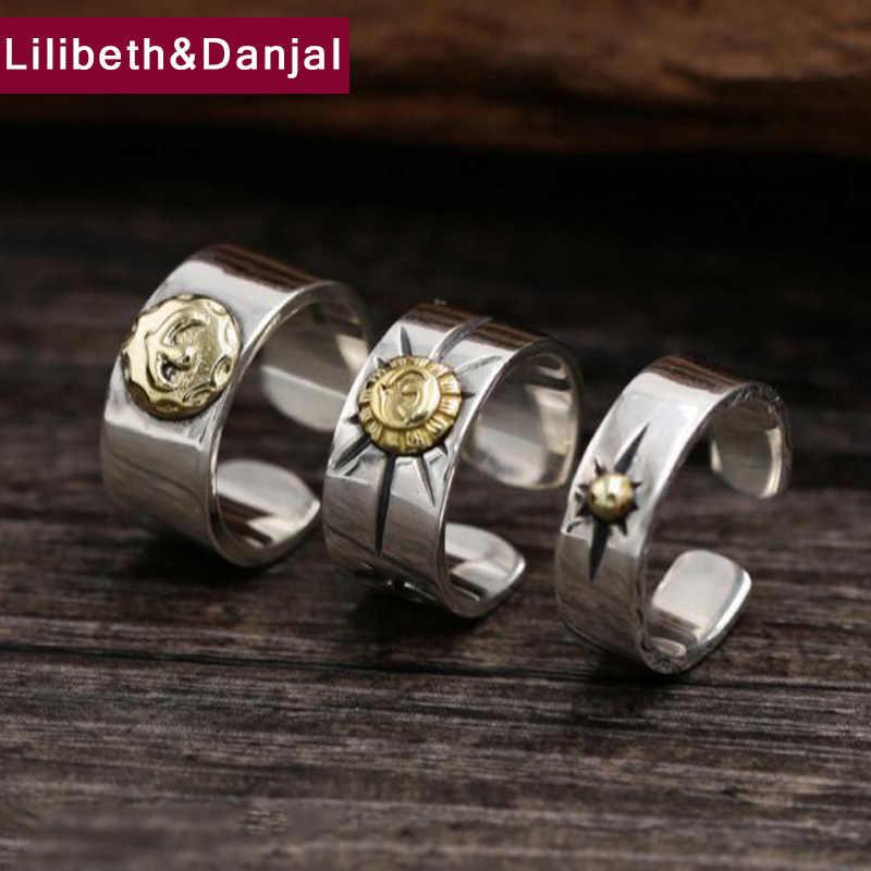 GD เปิดแหวน 100% เงินแท้ 925 Feather Eagle Claw อารมณ์เครื่องประดับแหวนผู้ชายผู้หญิงงานแต่งงานแหวนของขวัญ GR3