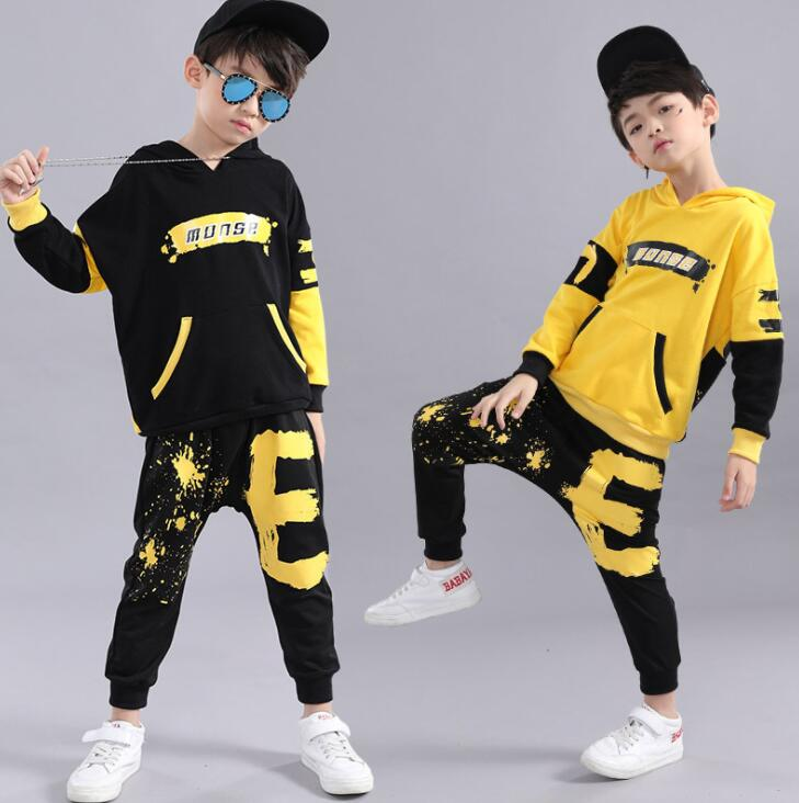 2019 New Spring Autumn Children Clothing Set Cotton Kids Outfits Kids Hoodies And Pant Boys Clothes 3 4 <font><b>5</b></font> 6 7 8 9 10 11 12 Years image