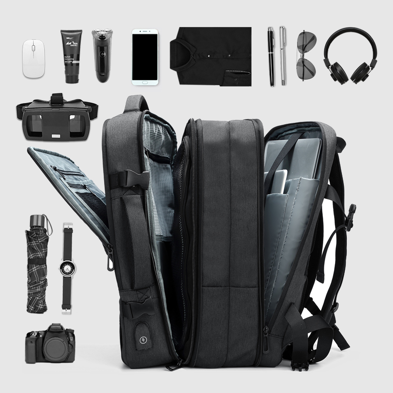 Men's Travel Bag Multifunction Outdoor Waterproof Laptop Backpack  Large Capacity Business Expansion Backpack Male Mochila