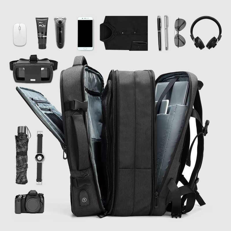 8ee4b38d0b3c Men's Travel Bag Multifunction Outdoor Waterproof Laptop Backpack Large  Capacity Business Expansion Backpack Male Mochila