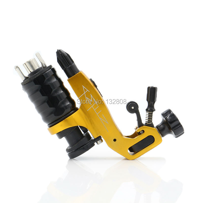 High Quality Newest Yellow Stigma Amen V6 Tattoo Machine Gun 3 Colors Choose For Shader And Liner  Free Shipping professional 1 bottle tattoo ink for lining and shading newest tribal liner shader pigment black newest 249ml drop shipping