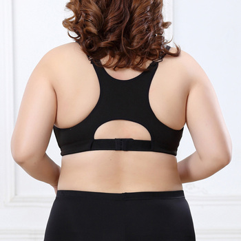 SEXYWG Plus Size Top Women Zipper Sports Bra Underwear Shockproof Push Up Gym Fitness Athletic Running Yoga Bh Sport Bra Top 5XL 1
