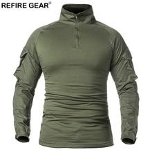 Refire gear Весна Осень Спортивная уличная футболка с длинным рукавом тактические военные армейские рубашки мужские охотничьи альпинистские дышащие рубашки